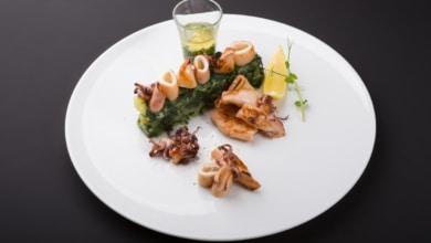 Tintenfische mit Spinat