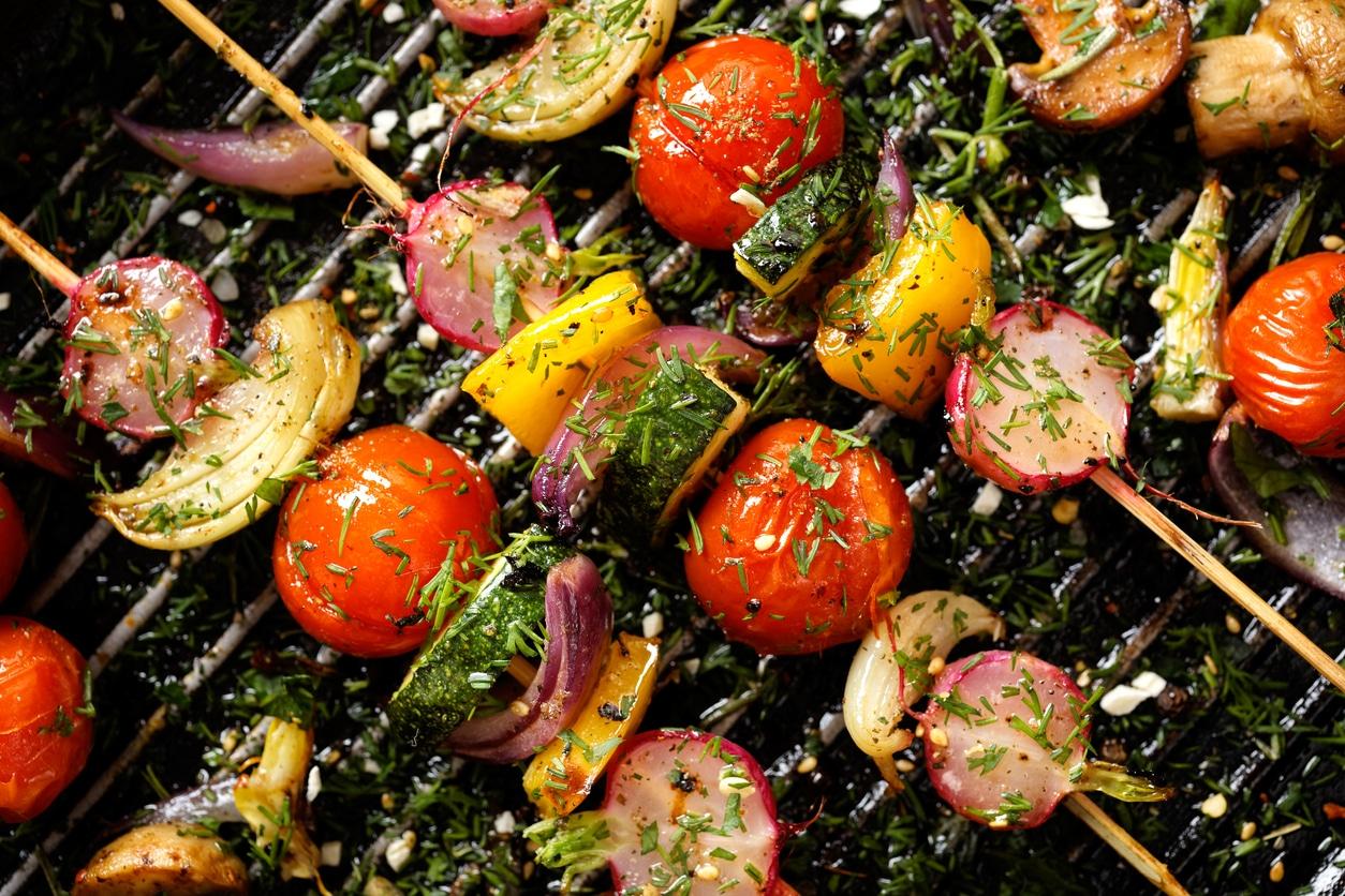 Griechische Gemüse Spieße